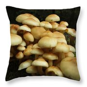 Life Of The Forest Floor Throw Pillow