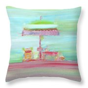 Life On The Beach Throw Pillow