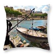 Life On The Seine Throw Pillow