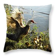 Life On The Water With Mom  Throw Pillow