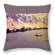 Life On The Yangte  Throw Pillow