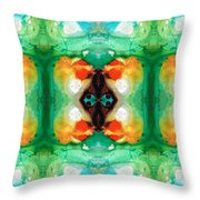 Life Patterns 1 - Abstract Art By Sharon Cummings Throw Pillow
