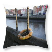 Life Saver -  Swiffey River - Dublin Ireland Throw Pillow