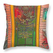 Life Should Be Painted Throw Pillow