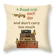 Life Typography-baggage Throw Pillow