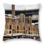 Life Under The Bridge Throw Pillow