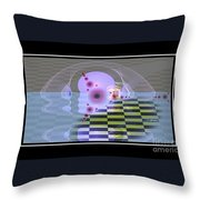 Lifeforms Throw Pillow by Peter R Nicholls