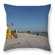 Lifeguard On Siesta Key Throw Pillow