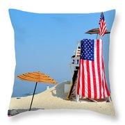Lifeguard 9-11 Tribute Throw Pillow