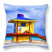 Lifeguard Station Throw Pillow