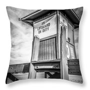 Lifeguard Tower 10 Newport Beach Hdr Picture Throw Pillow