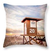 Lifeguard Tower 20 Newport Beach Ca Picture Throw Pillow