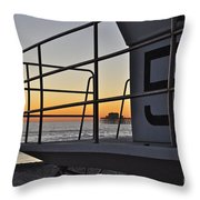 Lifeguard Tower 5  Throw Pillow