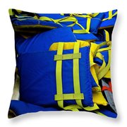 Lifejackets Throw Pillow