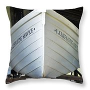 Lifesaving Boat Throw Pillow