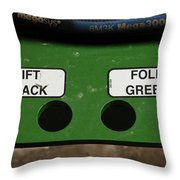 Lift Black Fold Green Throw Pillow by Christi Kraft