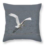 Lift Off - Egret 2013 Throw Pillow