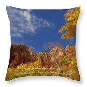 Lift Up Your Eyes Throw Pillow