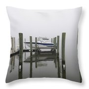 Lifted Up Into The Fog Throw Pillow