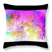 Uplifting The Trees Into The High Pink Sky   Throw Pillow