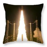 Liftoff Of Vega Vv06 With Lisa Throw Pillow