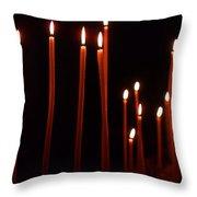 Light A Candle Say A Prayer Throw Pillow