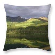 Light Along The Denali Highway Throw Pillow