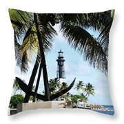 Light And Anchor Throw Pillow