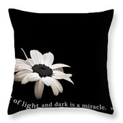 Light And Dark Inspirational Throw Pillow
