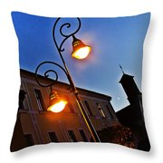 Light And Moon In B.bystrica Throw Pillow