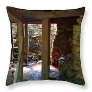 Light And Shadow Below The Mill Throw Pillow