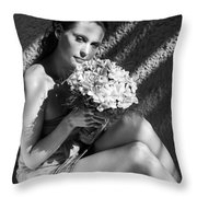 Light And Shadows I Throw Pillow by Jenny Rainbow