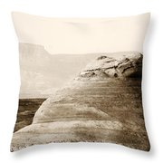 Light Around The Curve Throw Pillow