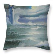 Light At Sea Throw Pillow