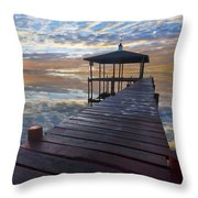 Light At The Lake Throw Pillow