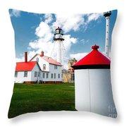 Light At Whitefish Point Throw Pillow