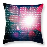 Light Beams Throw Pillow