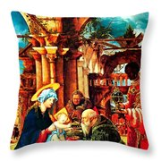 Light Birth Throw Pillow