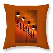 Light Cascade Throw Pillow