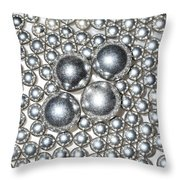 Light Chrome Throw Pillow