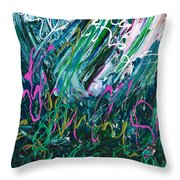 Light Dancing In The Shadows Throw Pillow