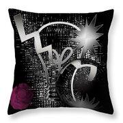 Light Effect Digital Oil Painting Throw Pillow