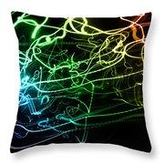 Light Explosion 12 Throw Pillow