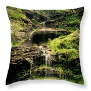 light flow at Cathedral Falls Throw Pillow