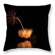 Light Flower Throw Pillow by Donnie Freeman