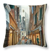 Light From San Salvador Merceria Del Capitello San Marco Venezia Throw Pillow