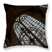 Light - Arched Windows And Golden Chandeliers Throw Pillow