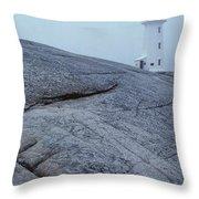 Light House At Peggys Cove Nova Scotia Throw Pillow