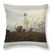 Light House Landscape Throw Pillow
