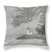 Light House On San Juan Island Lime Point Lighthouse Throw Pillow